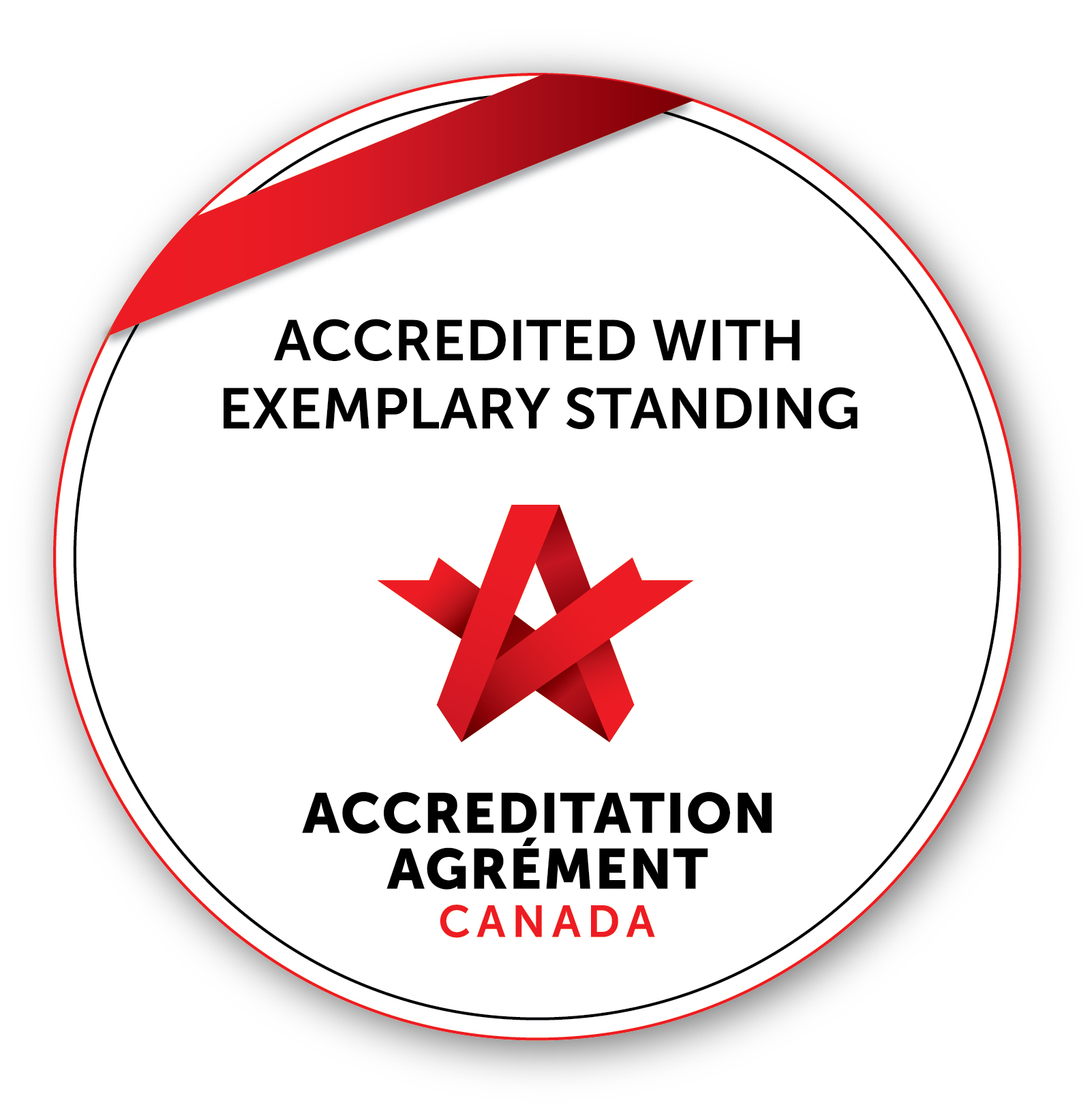 Accreditation Canada Seal: Accredited with Exemplary Standing